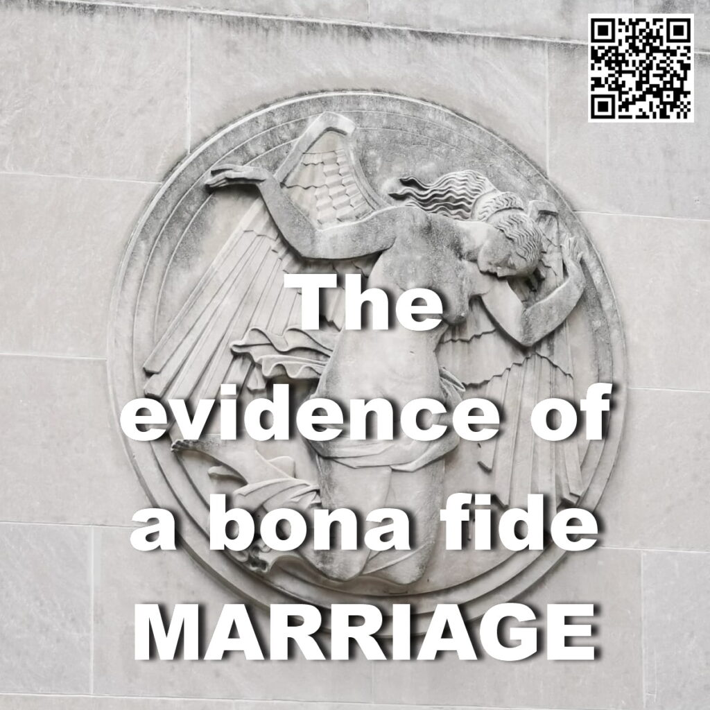 marriage is bona fide